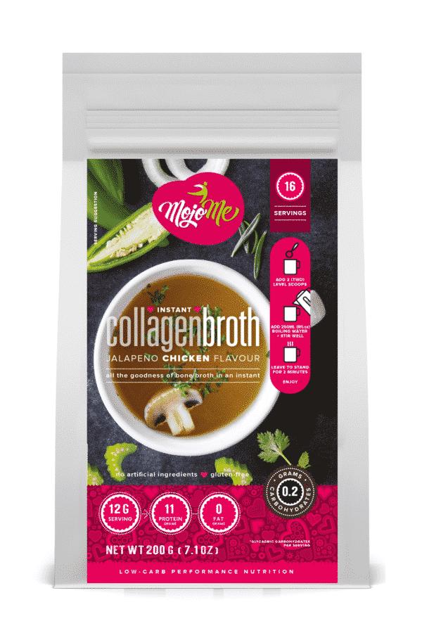 MojoMe Instant Bone Broth Powder — Jalapeno Chicken Collagen Protein