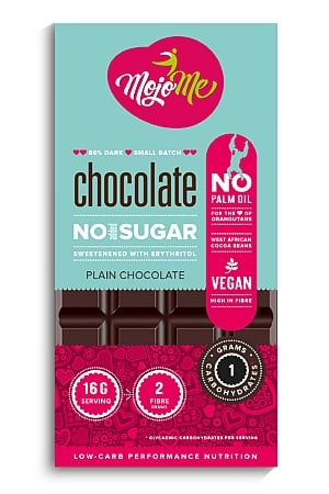 MojoMe Sugar-Free Vegan Dark Chocolate