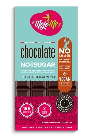 MojoMe Sugar-Free Vegan Dark Chocolate (Dry Roasted Almond)