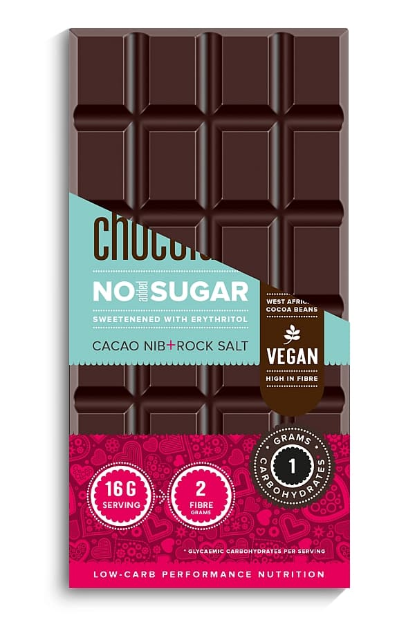 MojoMe Sugar-Free Vegan Dark Chocolate (Cacao Nib & Salt)