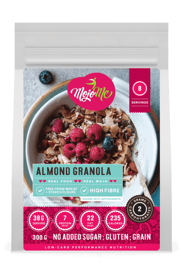 MojoMe Sugar-Free Low-Carb almond Granola 300g