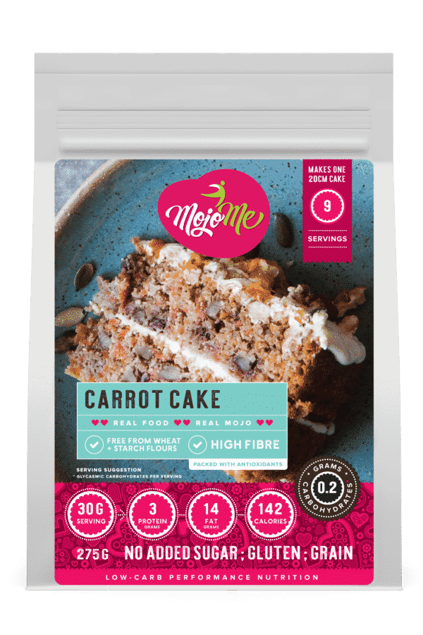 MojoMe Low-Carb Sugar-Free Carrot Cake 275g