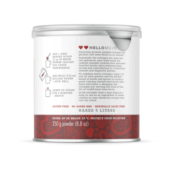 Instant Collagen Bone Broth - Savoury Beef - Directions for Use