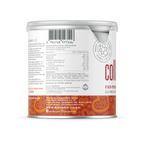 Instant Collagen Bone Broth - Nutritional Data