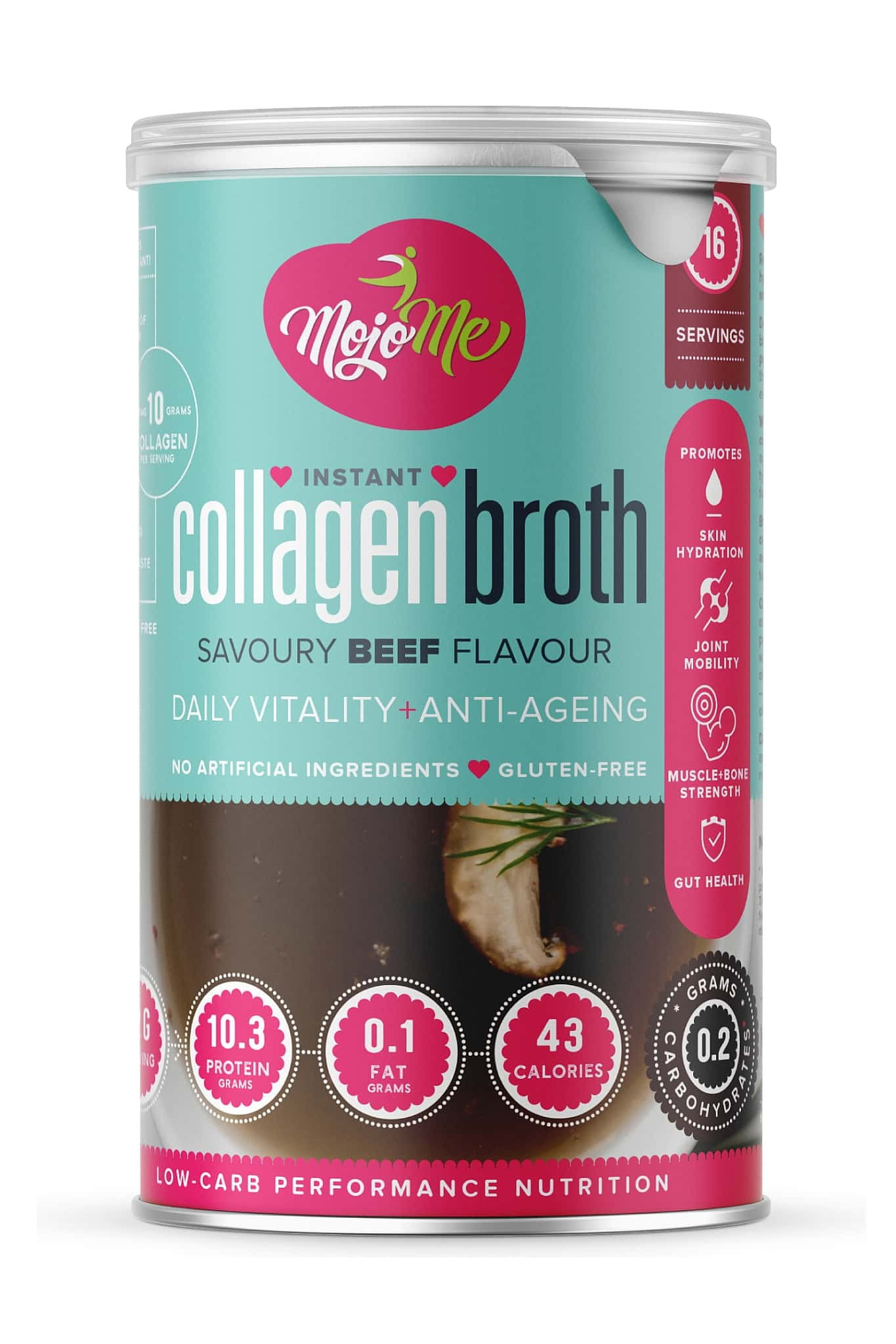 MojoMe Instant Collagen Broth - Savoury Beef - 200g